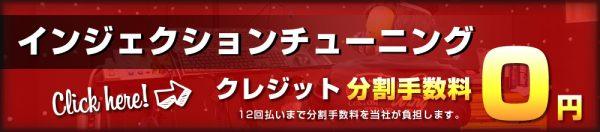 インジェクションチューニング分割手数料12回まで0円